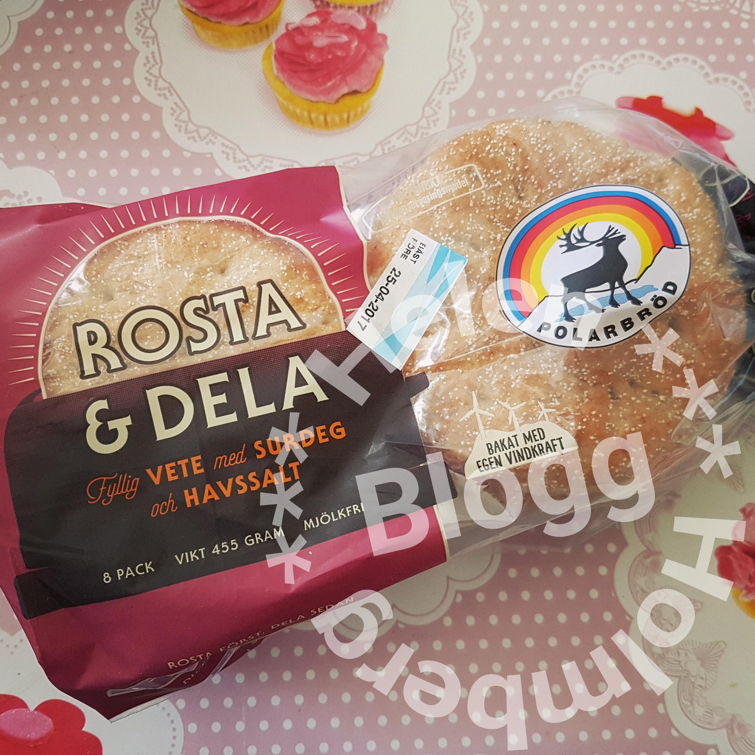 Provsmakning av Polarbröd rosta och dela ett ljust bröd med surdeg