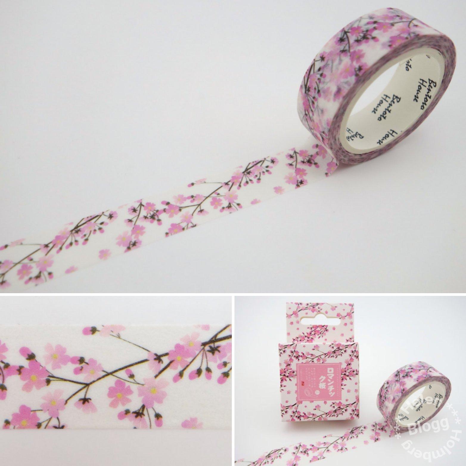 Washi tape med Japanska körsbärsblommor från Aliexpress