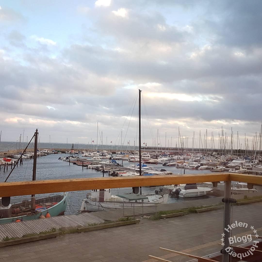 Utsikt från Höganäs Hamnkrog