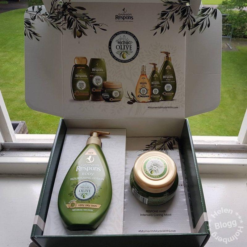 Garnier Respons Nourishing Body Lotion och dry oil Mythic Olive
