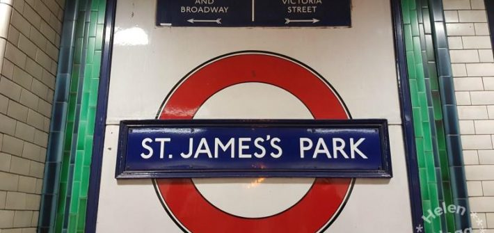 St James Park tunnlbanestation i London