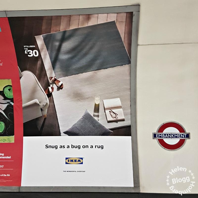 Reklam för IKEA i tunnelbanan