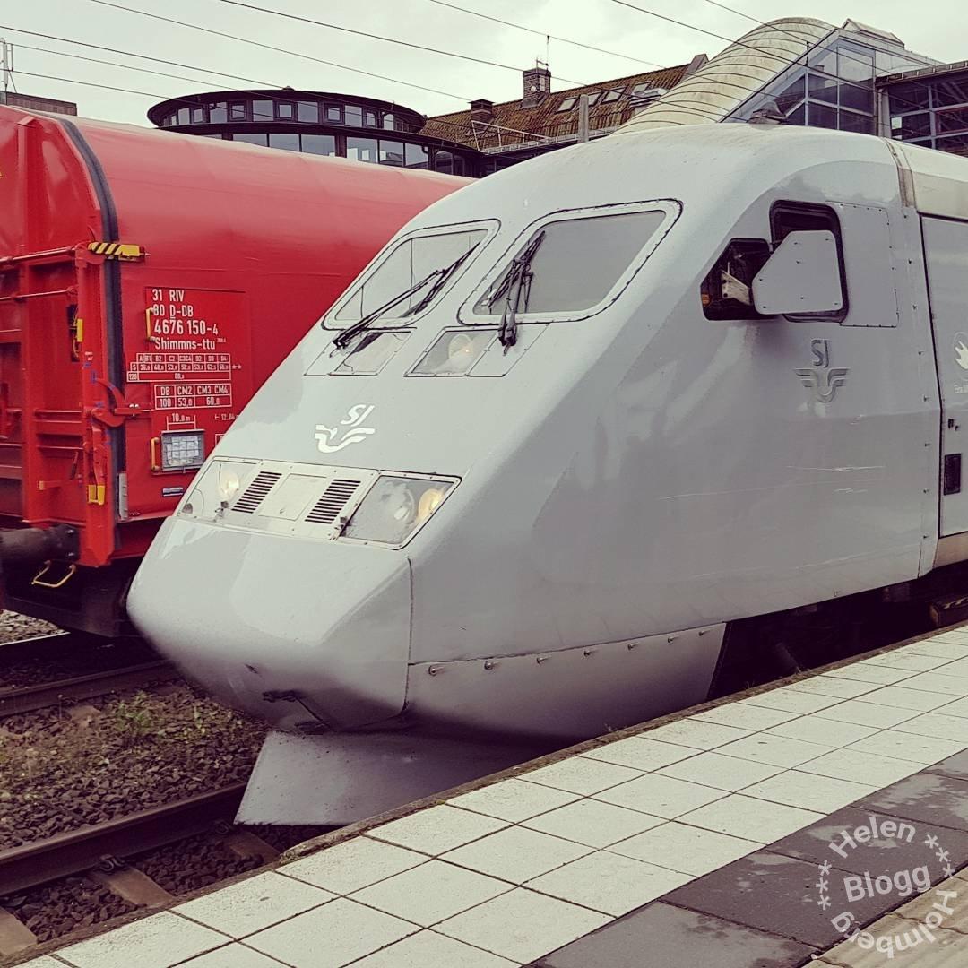 Loket på sj tåget som tog mig från Hässleholm till Stockholm