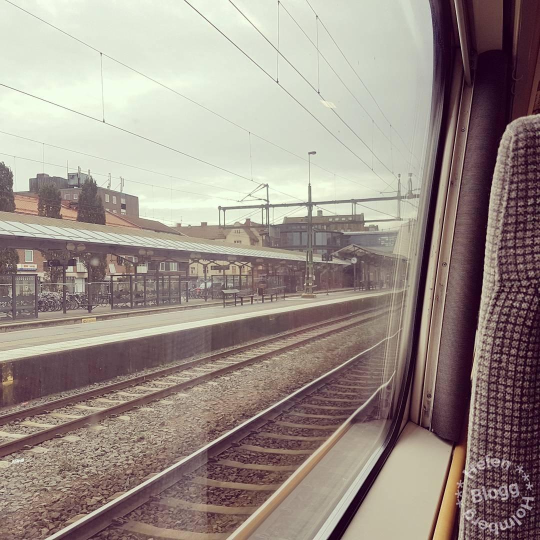 Utsikt från tågfönstret i Hässleholm