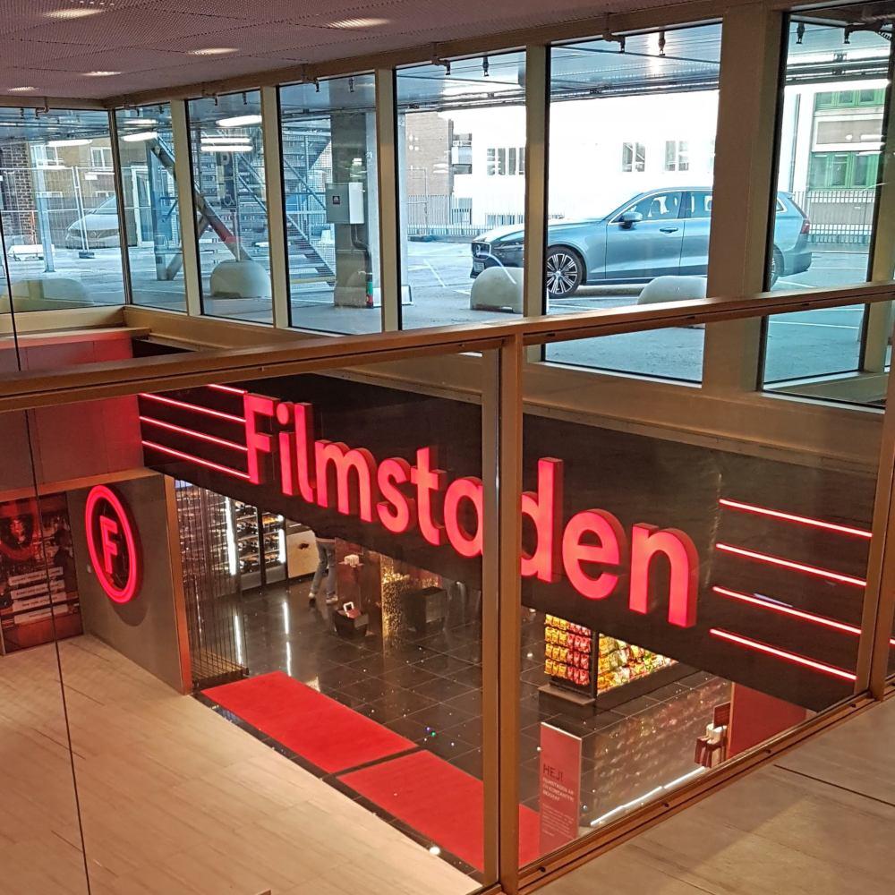 Helen J Holmberg biobesök på Filmstaden i Helsingborg