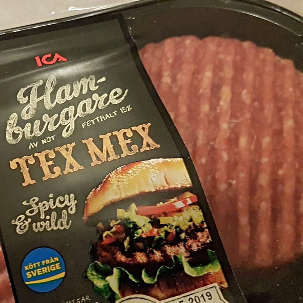 Helen J Holmberg provlagar Ica tex mex hamburgare