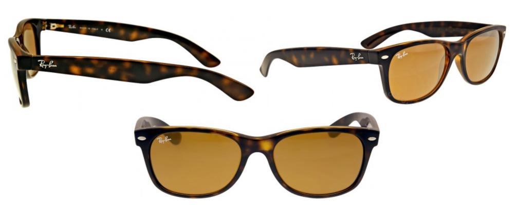 Helen J Holmberg beställt nya glasögon hos synoptik ett par Ray-Ban New Wayfarer Classic Sunglasses - Tortoise/Brown RB2132 710 55